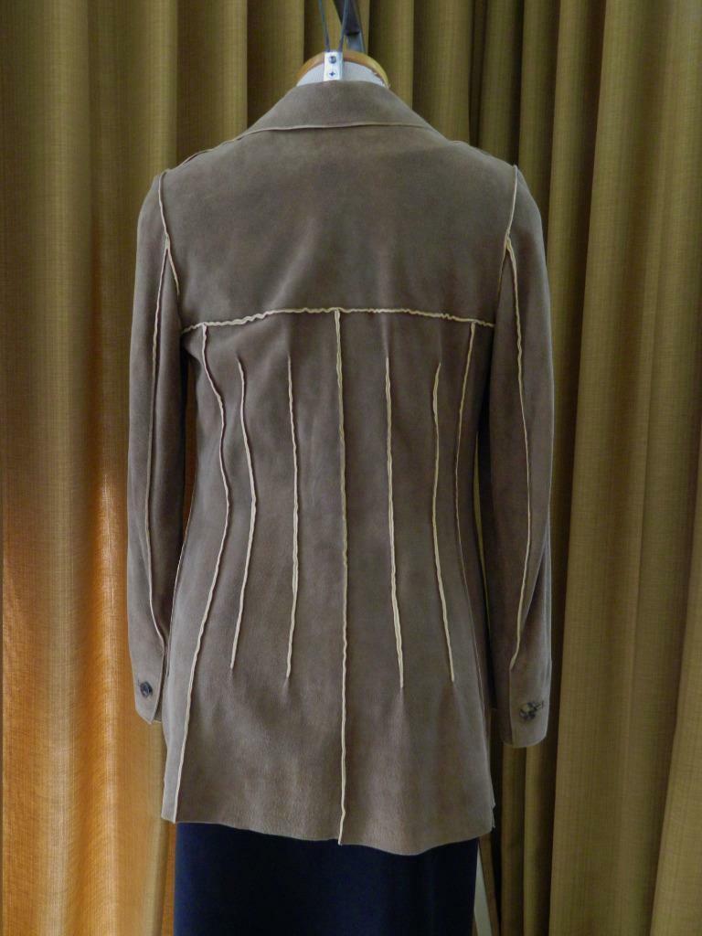 CHANEL Jacket Deer Skin Suede Chanel Horn Button … - image 3