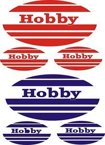HOBBY CARAVAN 4 PIECE OVAL   STICKERS