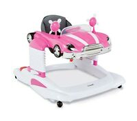 Mobile Walker For Baby Pink Entertainer Toddler Practice Walk Stand Position