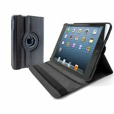 Genuine Tough Black PU Leather Rotating Case Stand Cover for iPad Mini 1 2 3