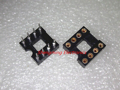 20pcs 8Pin DIP Round IC Sockets Adaptor Solder Type gold plated machined
