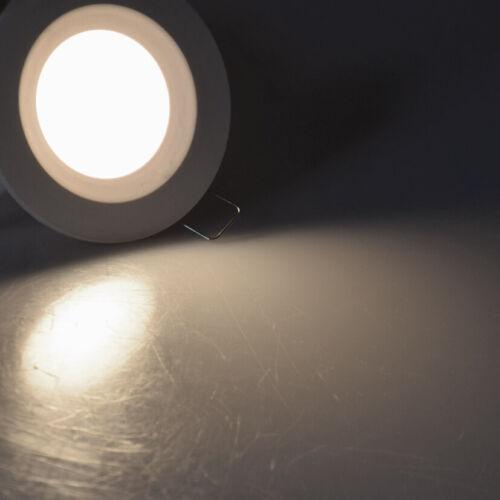 """weiß LED-Einbauleuchte /""""Flat-30 FR-R/"""" 4000K Ø85x30mm 500lm IP44 5W rund"""