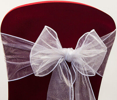 TABLE RUNNER ROLL CHRISTMAS XMAS RED SNOWFLAKE FLOCK ORGANZA CHAIR SASHES