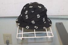Stussy Capz Bucket Hat L/XL Rayon/Wool Black Dollar Sign $ Cap