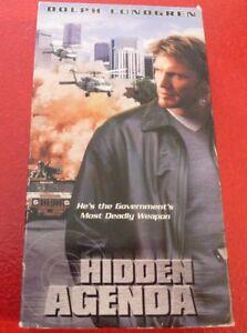 VHS-Movie-Hidden-Agenda-Dolph-Lundgren