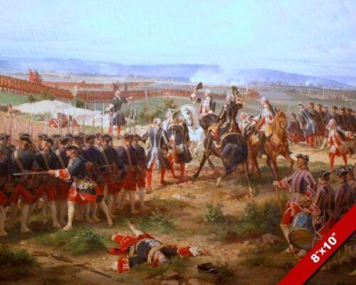 BATTLE OF FONTENOY AUSTRIA FRANCE WAR OIL PAINTING ART REAL CANVAS GICLEEPRINT