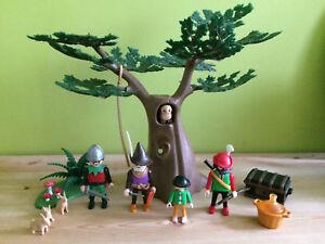 Playmobil 3626 Rare Brigands Trésor Forêt Arbre Creux