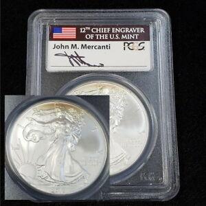 2013 US Silver Eagle $1 Dollar PCGS MS70 First Strike John Mercanti Coin CV4885