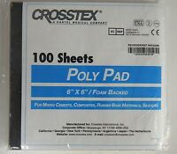 1 X 100 Poly Mixing Pads Dental Craft Hobby Poly Epoxy Glue Composite 6x6 6x6