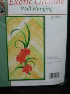 Sewing-With-Nancy-Exotic-Orchids-Wall-Quilt-Kit-Pattern-Fabric-Flowers-16x30-NEW