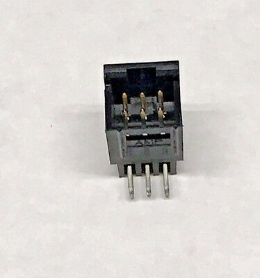 "100 AMP 640457-2 Header Connector 2 POS 0.100/"" 2.54mm RIGHT ANGLE Through Hole"