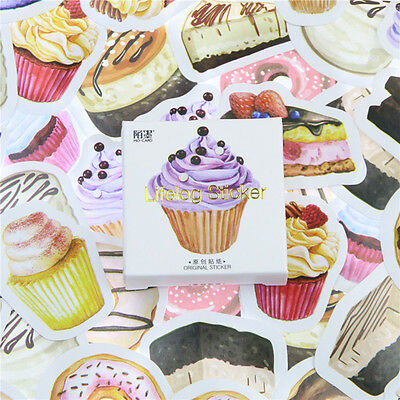 45 pcs/lot Birthday Cake Mini Decor DIY Album Diary Scrapbooking Label Sticker