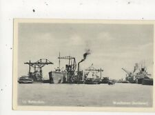 Rotterdam Waalhaven Bunkeren Vintage Postcard Netherlands 643a