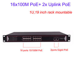 16-Ports-PoE-Switch-for-Network-PoE-IP-Cameras-NVR-wireless-AP-Rack-Mountable-1U
