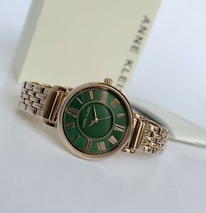 Anne Klein Watch * 2158GNRG Green Dial Rose Gold Steel for Women COD PayPal
