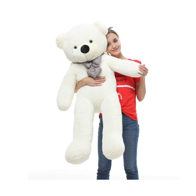 Giant 100cm 39/'/' Big Cute Brown Plush Teddy Bear Huge Soft 100/% PP Cotton Toy