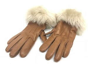 d5a2f582528aa UGG Australia 3 PT LONG TOSCANA FUR TRIM SMART GLOVES LEATHER ...
