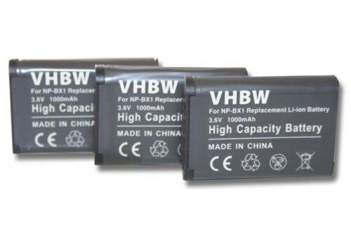 3x Batería 1000mAh para Sony Cybershot DSC-RX100 V