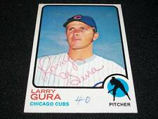 Chicago Cubs Larry Gura Auto Signed 1973 Topps Card #501  Vintage Signature N