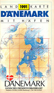 Verkehrskarte-mit-Haefen-Daenemark-1991