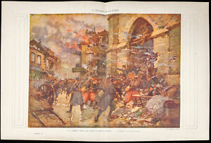 War-14-18-Battle-D-039-Albert-aquarelle-of-Galien-Laloue-Somme