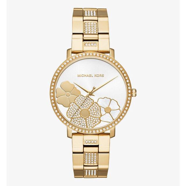 345c6267e880 100% New Michael Kors MK3864 Jaryn Pavé Gold-Tone Dial 38mm Case Women s  Watch