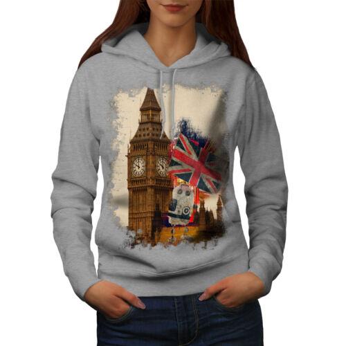 Union Casual Hooded Sweatshirt Wellcoda Tower Flag London UK Womens Hoodie