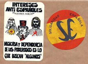 Image is loading 2-X-Political-stickers-SPAIN-Propaganda-Far-Right-