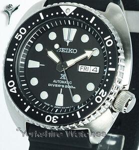New-SEIKO-PROSPEX-TURTLE-DIVER-BLACK-FACE-WITH-SILICONE-RUBBER-STRAP-SRP777J1