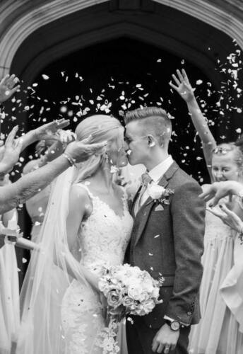 Biodegradable Wedding Confetti PACKET Happy Couple Tears Tissue Pack Ivory Petal