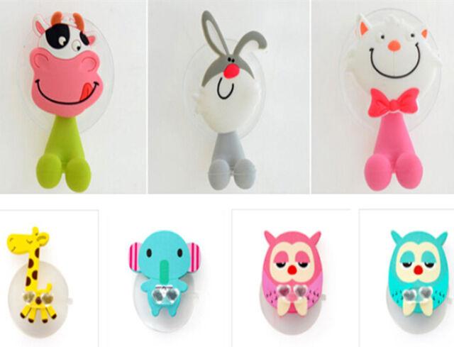 1PCS Lovely Kids Silicone Animal Owl Toothbrush Holder Home Bathroom Wall Hanger