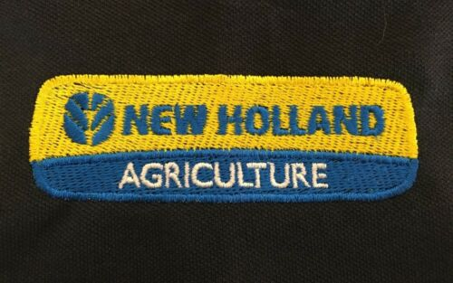 New Holland Tractor Embroidered Two Tone Heavyweight Polo Shirt Small to 2XL
