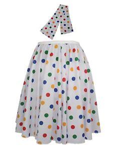 Ladies-Children-in-Need-Polka-Dot-22-034-Rock-amp-Roll-Skirt-Fancy-Dress-CIN