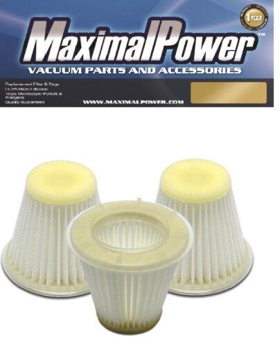 MaximalPower Filter for Black /& Decker VF100 Vacuum Filter CHV9600 CHV1400 3PK