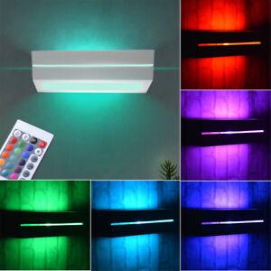 LED-ceramique-Mur-Spot-ess-chambre-RGB-telecommande-haut-bas-variateur