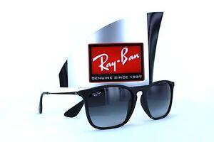 1474d0316a Ray-Ban Chris RB4187 622 8G Black Grey Gradient Sunglasses 54mm Non ...