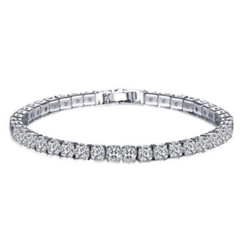 1//2//3 Row Iced Out Tennis Bling Lab Simulierter Diamantarmband 18 Karat Gold