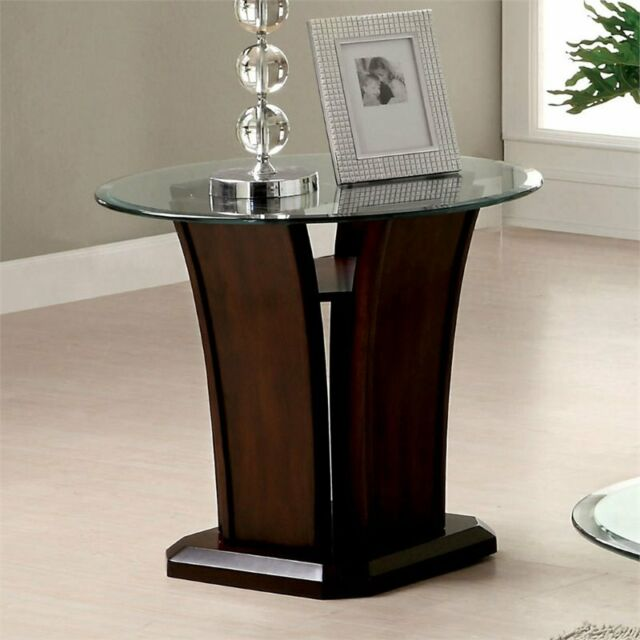 Furniture of America Veretta End Table with 10mm Beveled ...