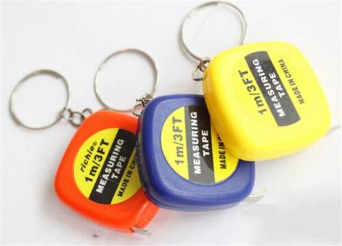 Measure Keychain 1M Mini Retractable Stainless Steel Pocket Measuring Ruler Tape