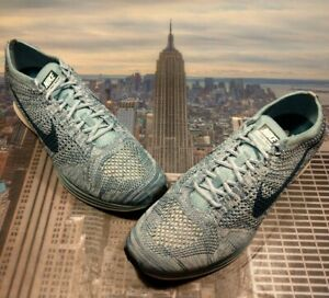 c74130429587a Nike Flyknit Trainer White Legion Blue-Mica Blue Mens Size 13 526628 ...