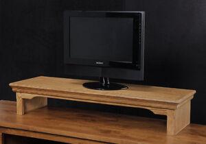 Tv Riser Stand Laptop Stand Soundbar Traditional Style Oak Wood Ebay
