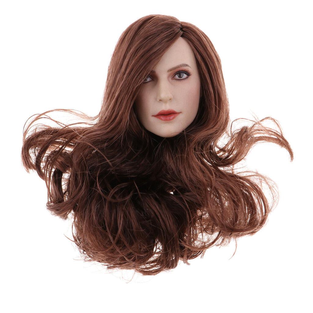 1 6 Scale Female Head Sculpture for 12 Inch Phicen Kumik Action Figure Parts