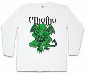 CTHULHU-VI-LONG-SLEEVE-T-SHIRT-Wars-Horror-Arkham-H-P-Miskatonic-Lovecraft