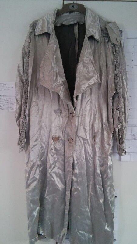 Long silver rock star jacket ladies