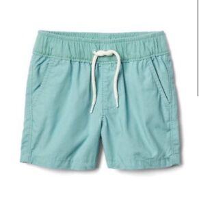GAP Baby Boy Size 0 3 6 12 18 24 Months Navy Blue Khaki Twill Pull on shorts