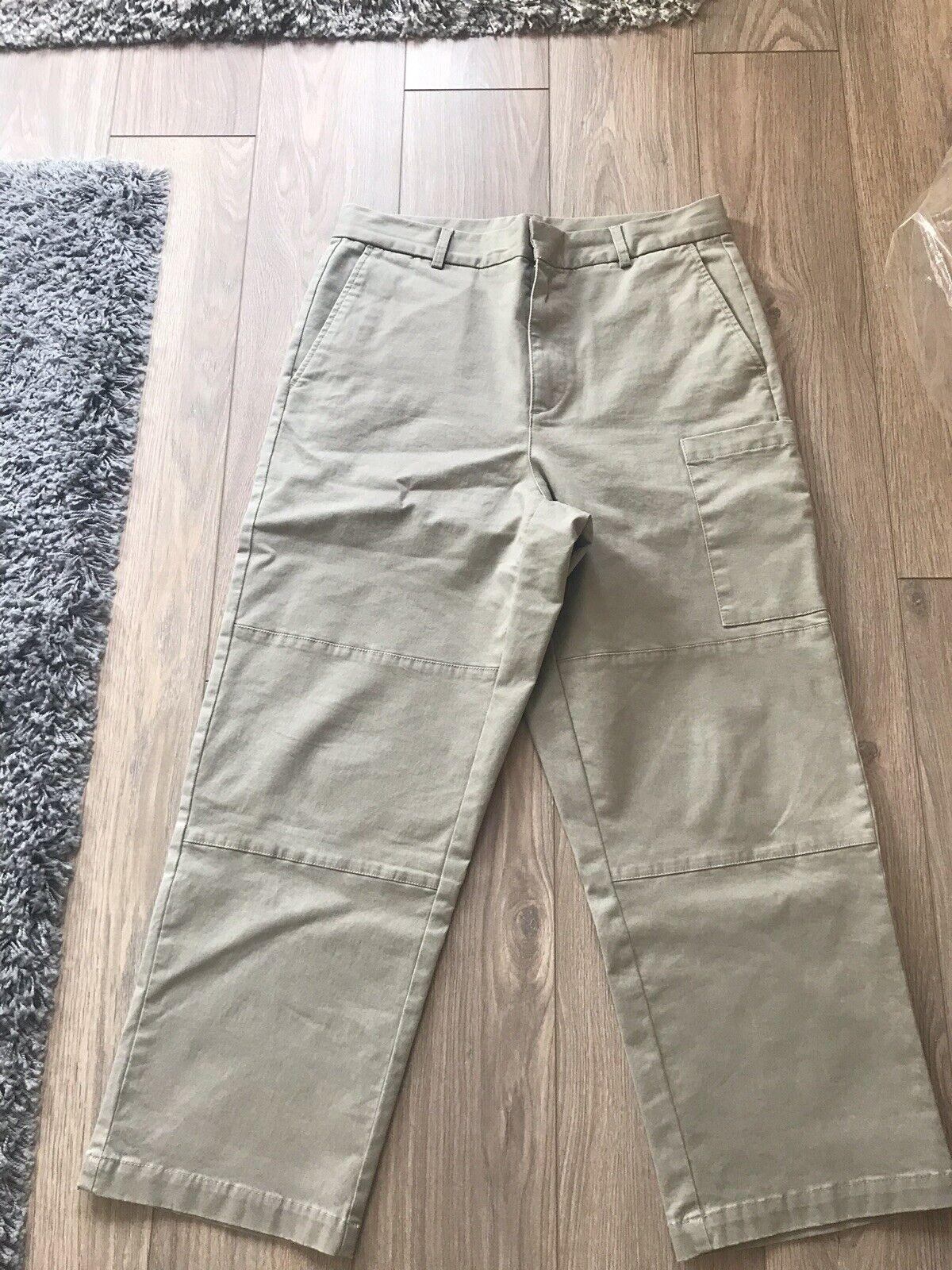 SALE Asos White Cargo Trousers In Beige Heavyweight Twill 32