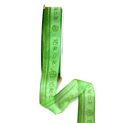 """Erfinderisch Band Leicht Transparent M. Schrift """"grün"""", 25mm/ 25 Meter !!! Ein Unverzichtbares SouveräNes Heilmittel FüR Zuhause"""