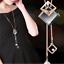 Damen-Halskette-Mode-Schmuck-Geschenk-Tochter-Mutter-Anhaenger-Gold-lange-Kette Indexbild 7