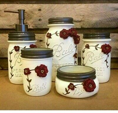 Mason Jar Bathroom Set Ebay