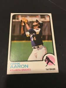 Details About 1973 Topps 100 Hank Aaron Atlanta Braves Baseball Card Nm